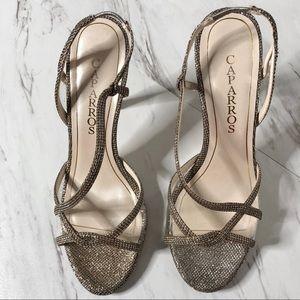 Caparros Metallic Glitter Slingback Sandal 7.5